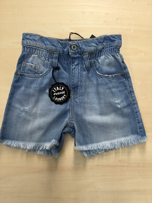 PLEASE SHORTS VITA ALTA IN JEANS