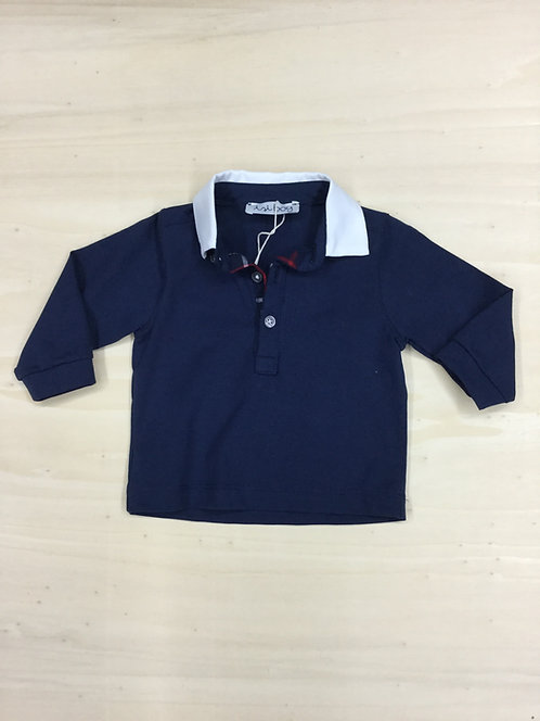 ISI BABY BOY POLO MANICA LUNGA IN COTONE