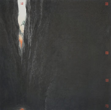《泰寧寫生之九龍潭》Tai Ning Dragon Pond 68x68cm