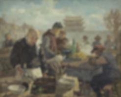 113、李宗津     平民食堂    布面油彩    63×80cm    1