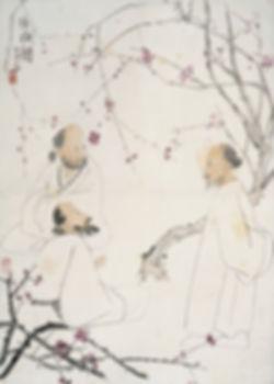 67、李可染  咏梅图  纸本设色  69×49cm  20世纪  中央美院美术