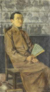 111、李毅士    陈师曾像     130×70cm    1920  中央