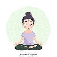 woman-meditating-with-flat-design_23-214