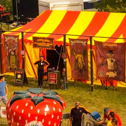 An Aerial view of the Big Top