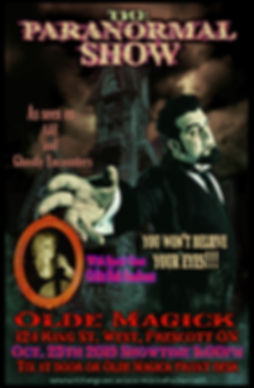 1Paranormal Show poster-  Olde Magick FL
