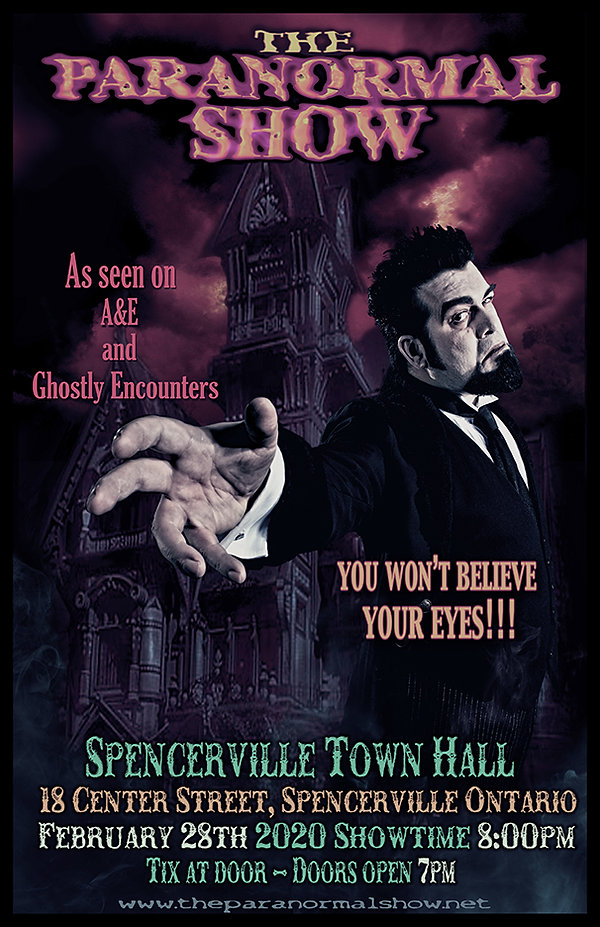 Paranormal Show poster Spencerville FLAT