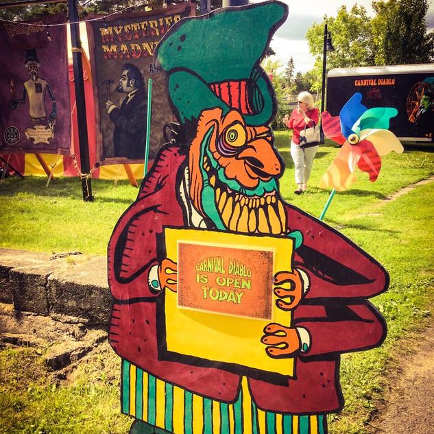 Carnival Diablo roadside sign