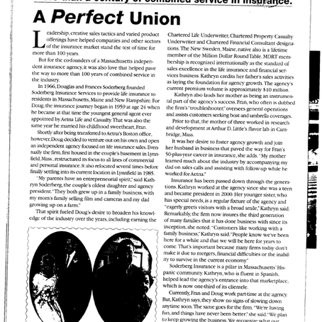 July 2013- Best's Review: A Perfect Union