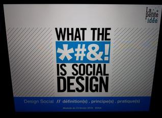 Cours d'introduction au design social : le retour !
