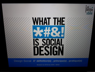 Cours d'introduction au design social : le retour !