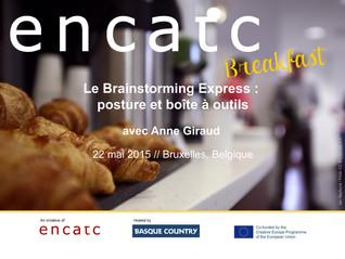 """Animation d'un """"ENCATC Breakfast"""" à Bruxelles"""