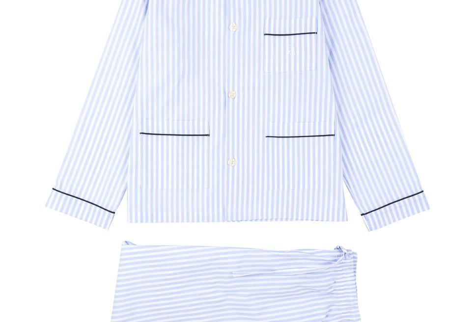 Pijama de niño Kiff Kiff largo de algodón con rayas