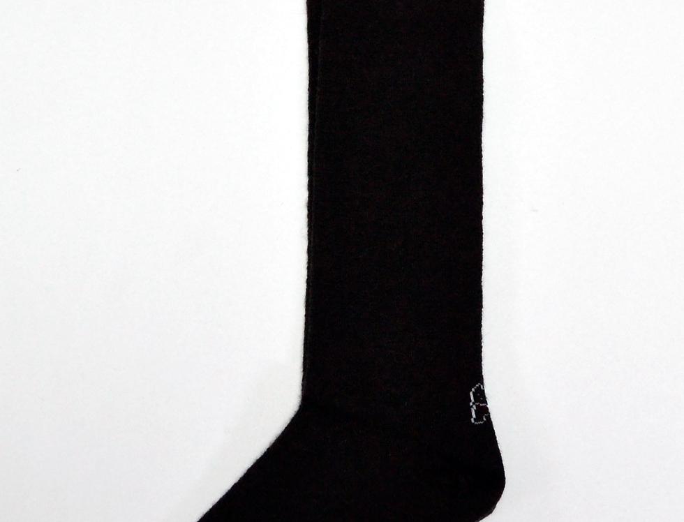 Calcetines caña alta de mujer Kiff Kiff lana marrón con greca.