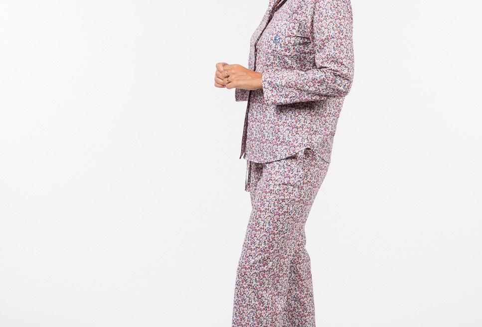 Pijama de mujer largo  algodón  estampado florecitas