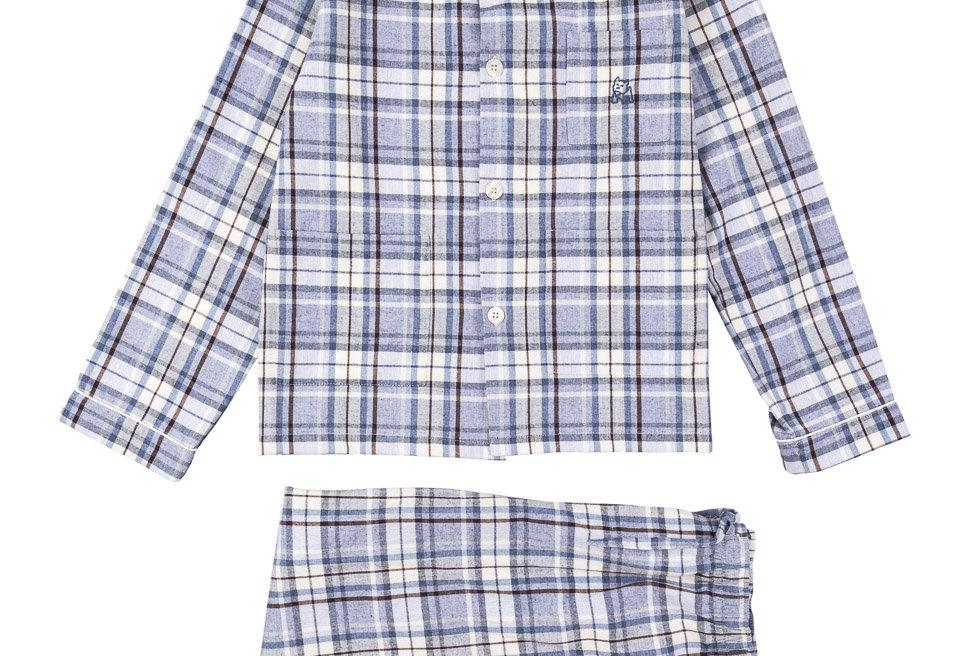 Pijama de niño Kiff Kiff largo de viyela cuadros