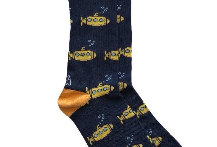 Calcetines media caña de hombre Kiff Kiff azul estampado