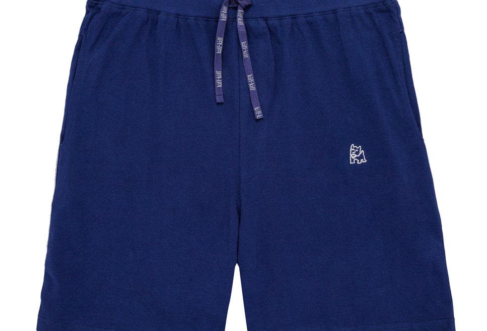 Pantalón de pijama corto de hombre Kiff Kiff de punto azul marino