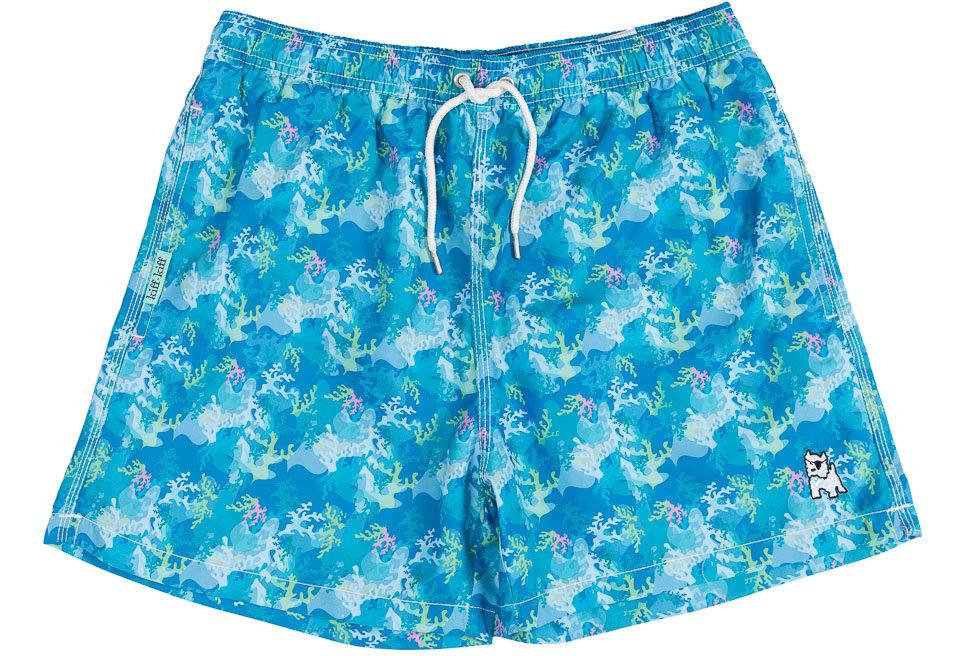 Bañador bermuda hombre Kiff Kiff  azul estampado Corales