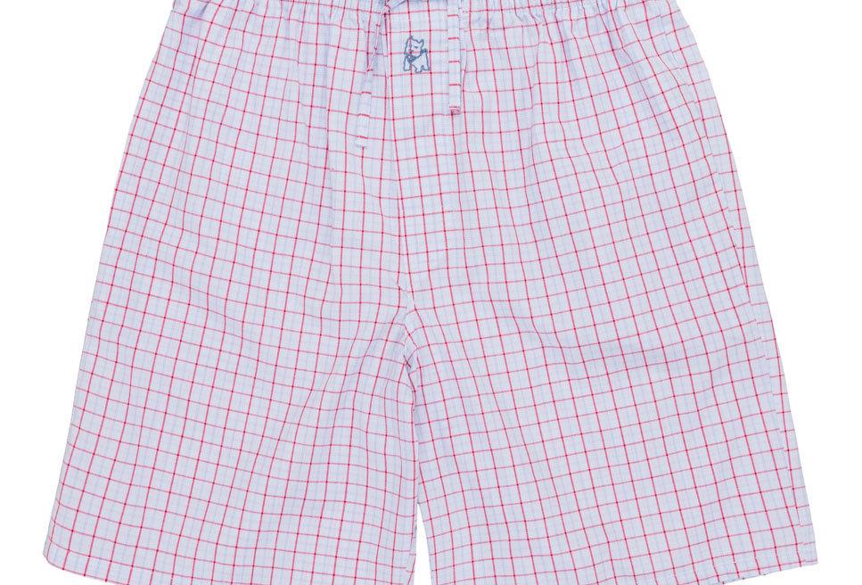 Pantalón de pijama corto de hombre Kiff Kiff de tela con cuadros
