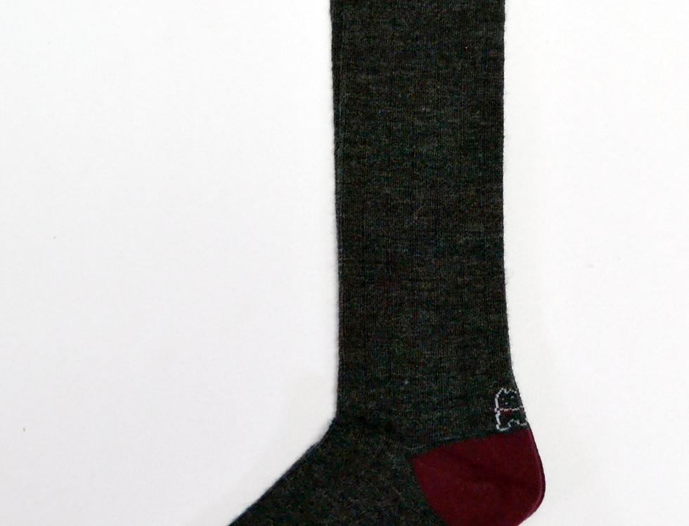 Calcetines caña alta de mujer Kiff Kiff lana gris marengo.