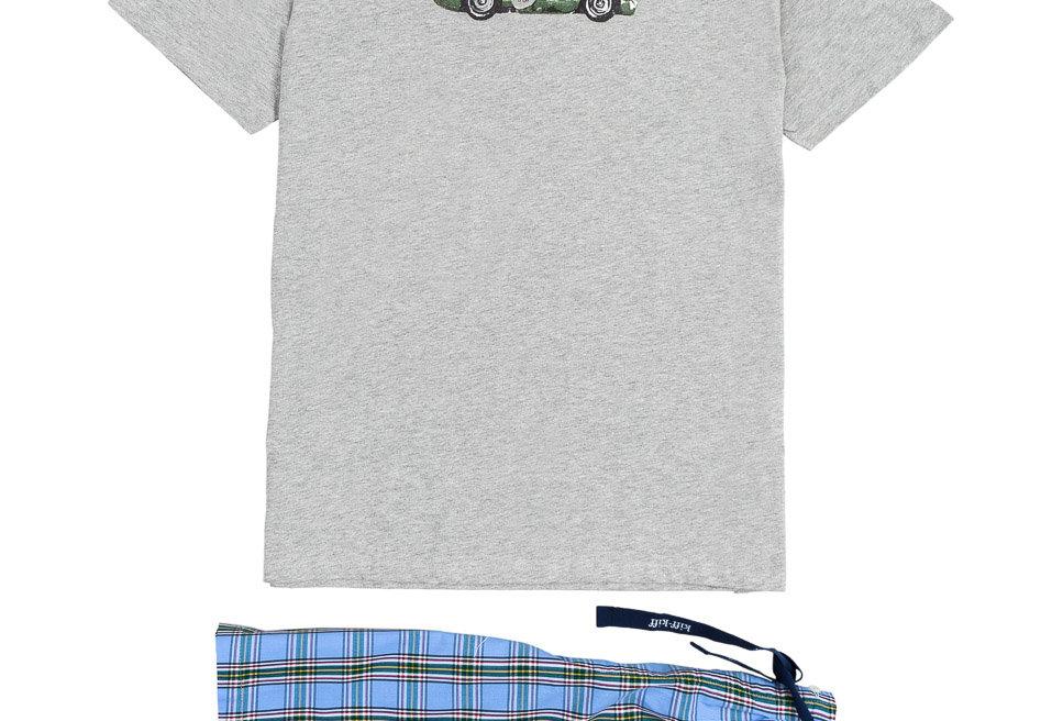 Pijama corto combinado de hombre Kiff Kiff