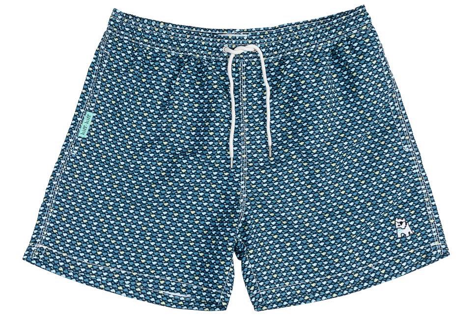 Bañador bermuda hombre Kiff Kiff azul estampado Ballenas bicolor