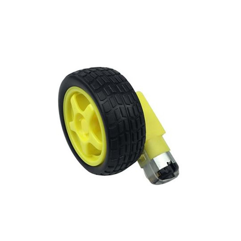 Small DC Geared Motor with Wheel