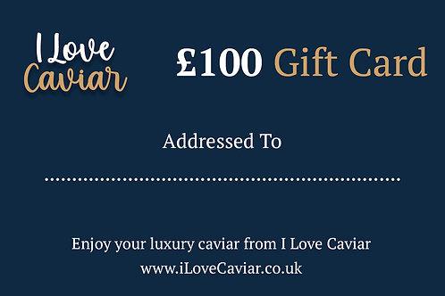 £100  Gift Card / I Love Caviar