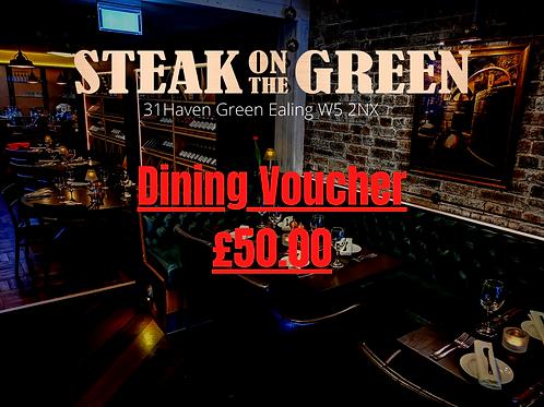 Steak on the green Gift Voucher