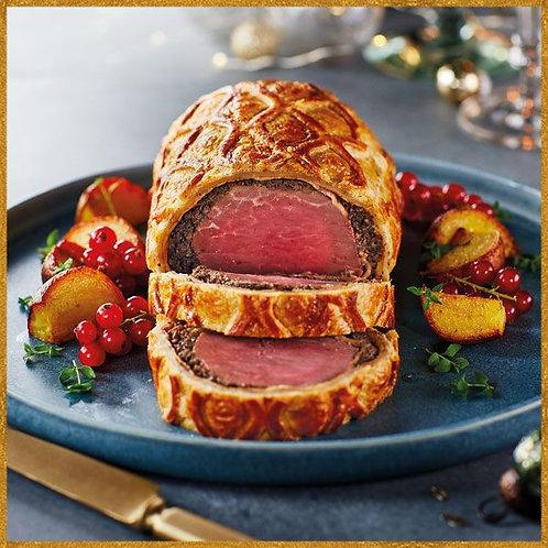 Beef Wellington with Truffle & Dijon Mustard
