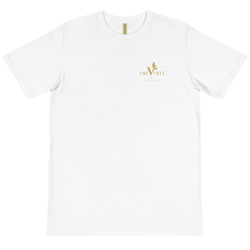 The Vtree Organic Eco White and Gold T-Shirt