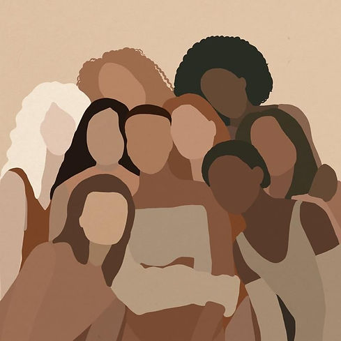 Diverse Women Portrait _ Different skin