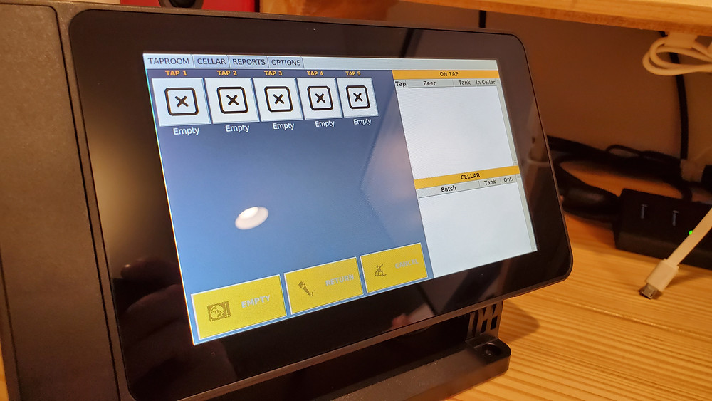"Raspberry Pi 7"" Touchscreen in stand"