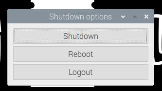 Shutdown screenshot
