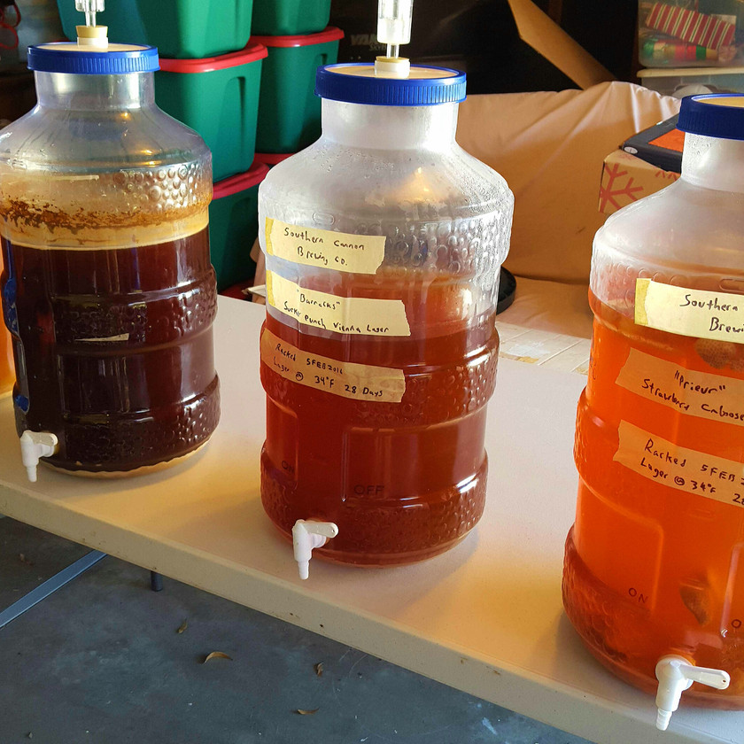fermenters with hombrew beer