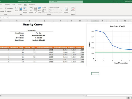 Create a Beer Gravity Curve In Excel