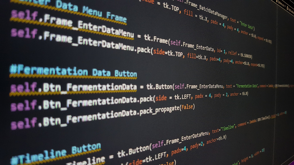 software code on a screen