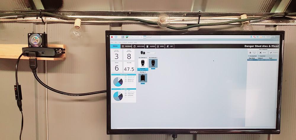 Raspberry Pi computer and monitor