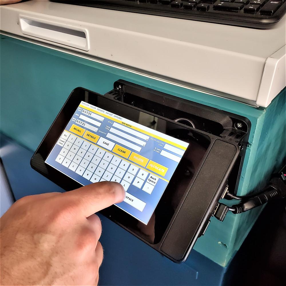 Keg Punk touchscreen interface