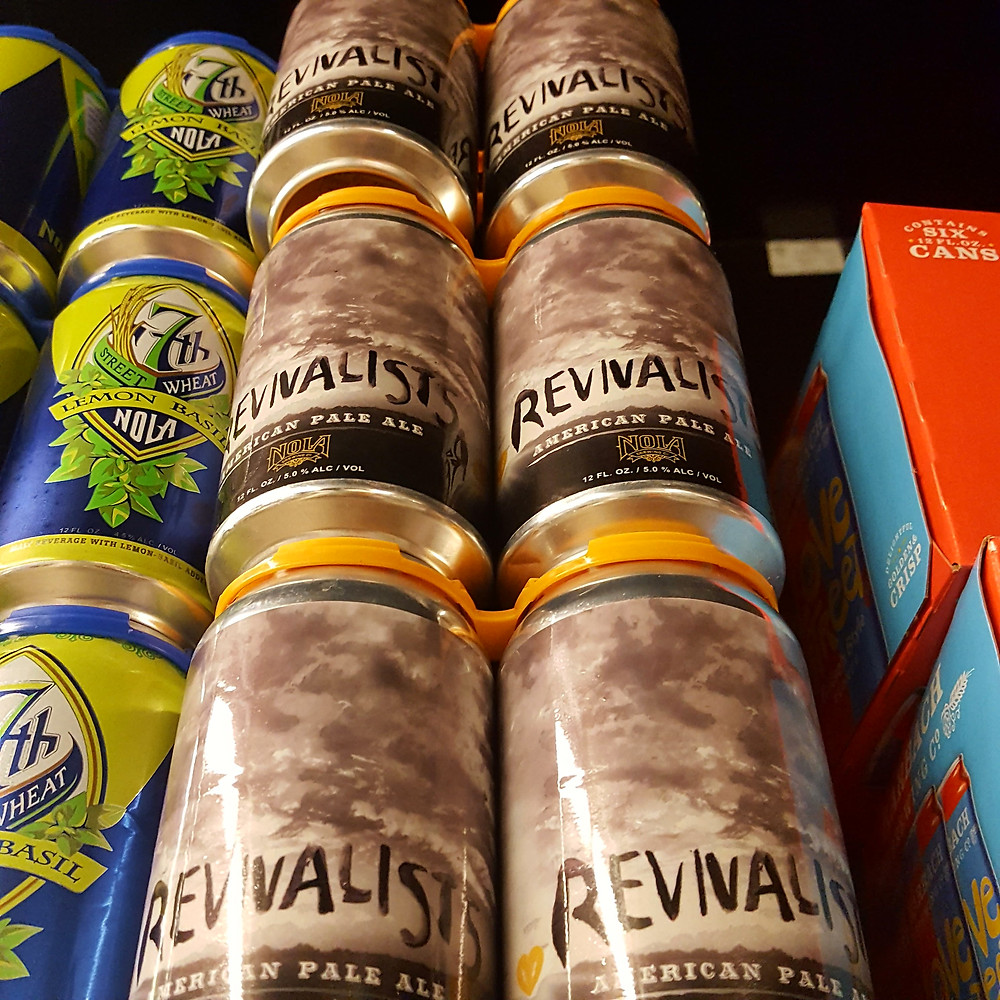 Cans of craft beer