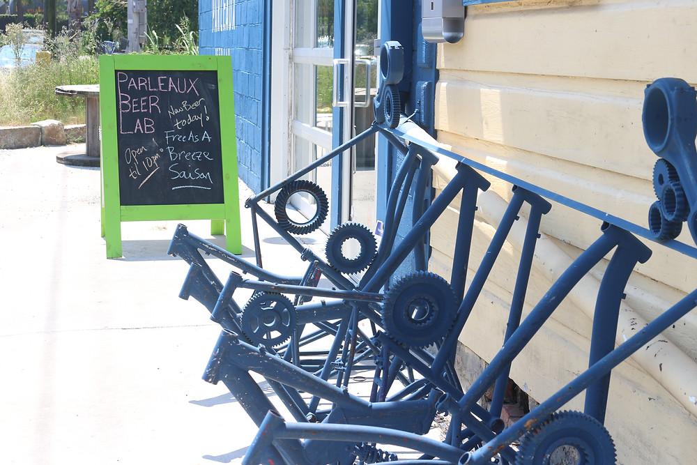 Bike rack at local brewery