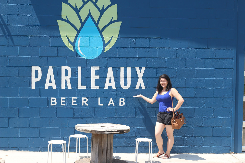 Woman at local craft beer brewery