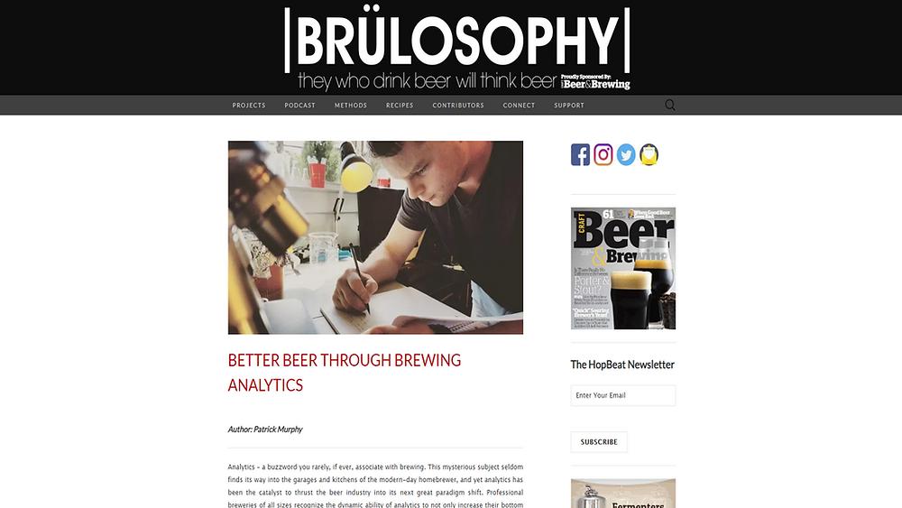 Blog post written by Arithmech for popular brewing website