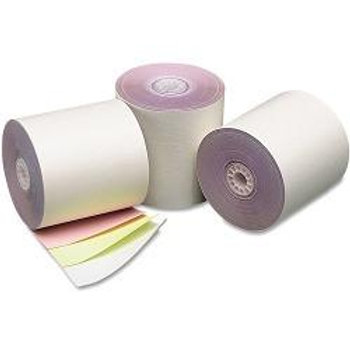 3 Ply 3 in. x 60 ft. Carbonless Paper Rolls, Box of 50