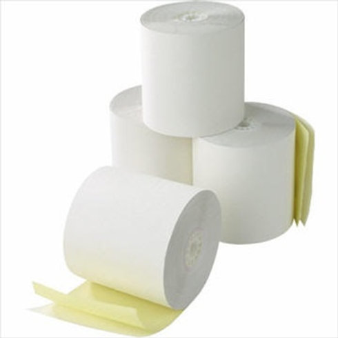 2 Ply 3 in. x 90 ft. Carbonless Paper Rolls, Box of 50