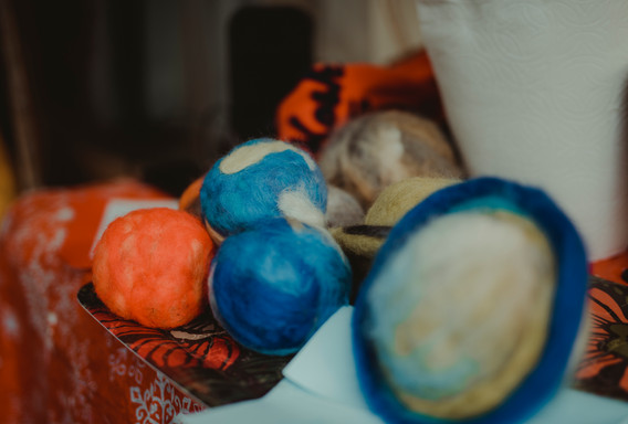 Hand felted Solar System