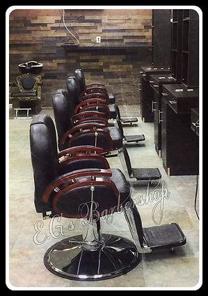 Inside E.G's Barbershop, E.G's barber shop