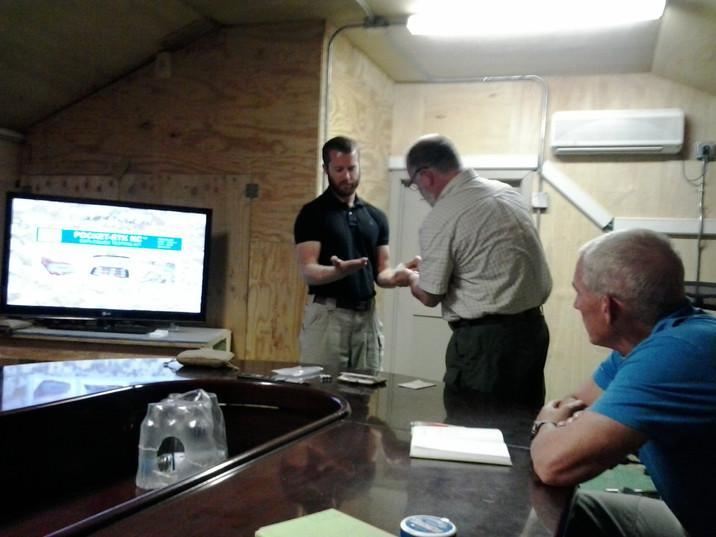 William Carney doing Biometric Fingerprint Training
