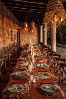 Table deco at Villa Paissa den Bernat