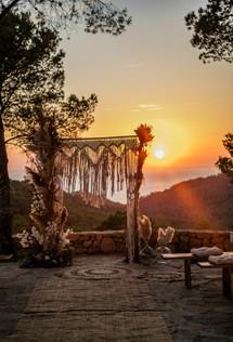 Sunset at Villa Paissa den Bernat